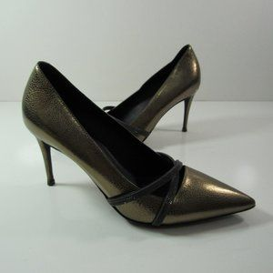 Brunello Cucinelle Leather Heel Pumps Shoes Italy